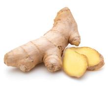 "Постер, картина, фотообои ""Fresh ginger root or rhizome isolated on white background cutout"""