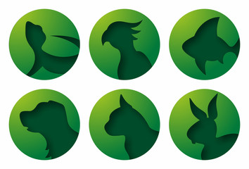 Pet Icons Green