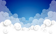 Fototapeta - Cloud background illustration composition with paper clouds
