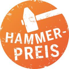 Button Stempel Hammerpreis