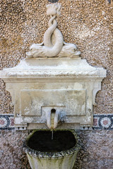 washstand in the park, Sintra, Portugal. Palace Quinta da Regale