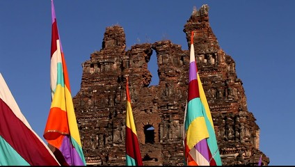 Colorful Flag in the temple