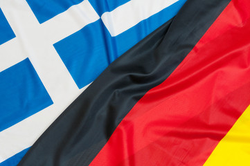 Flags of Germany and Greece