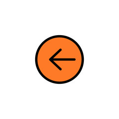 Arrow left - Thickly Colorful icon