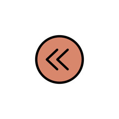 Left arrow - Thickly Colorful icon