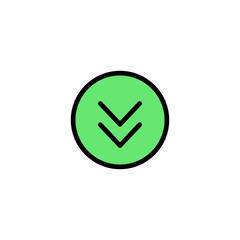 Down arrow - Thickly Colorful icon
