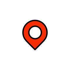 Location pin - Thickly Colorful icon