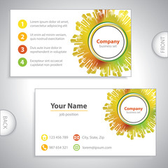 business card - Abstract architectural building - cities on back