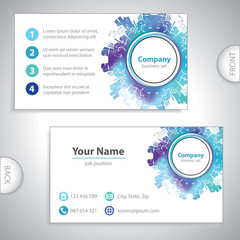 business card - Abstract industrial building - factory backgroun