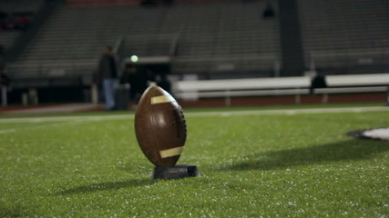 Football Kickoff Slow Motion