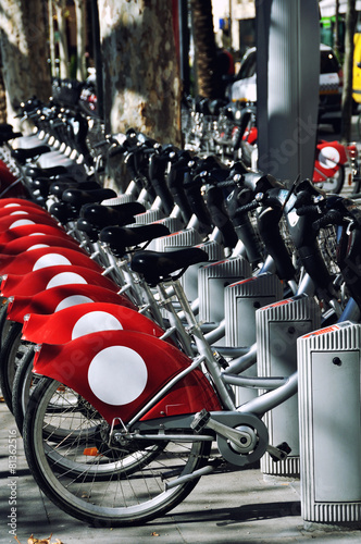 City bikes in Sevilla, Spain - 81362516