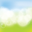 Abstract spring green blue background