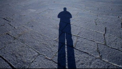 Man Shadow on the ground