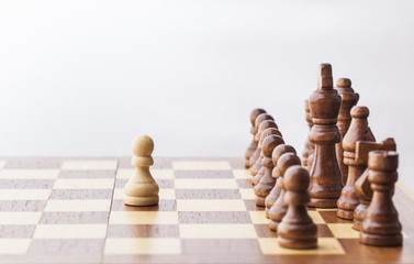 Chess. Chess figure, business concept strategy, leadership, team