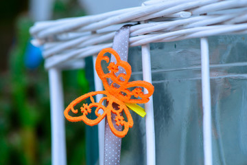 decorative orange small butterfly