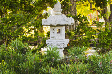 Shrine in Japanese garden