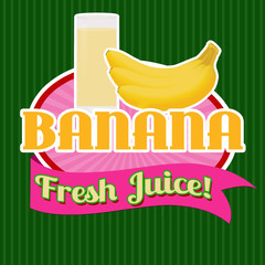 Banana juice sticker or label