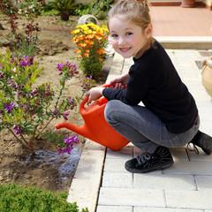 Innaffiando il giardino