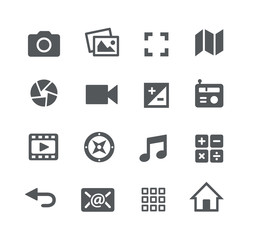 Media Icons // Apps Interface