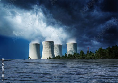 Nuclear station flood water