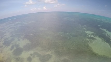 mar caribe sobrevuelo
