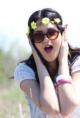 surprised summer girl