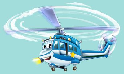 Cartoon plane - glider - caricature - illustration