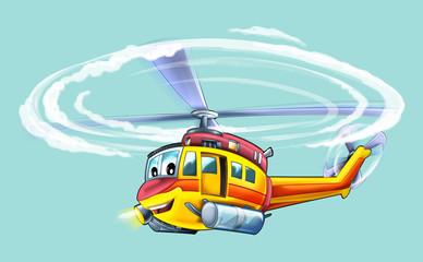 Cartoon plane - glider - caricature