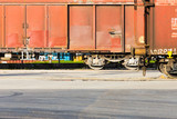 freight train departing