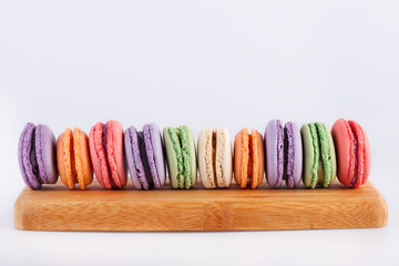 traditional french colorful macarons