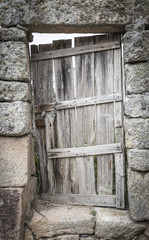 old wooden door on a country house