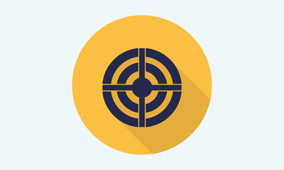 Target concentric icon - flat icon - stock vector