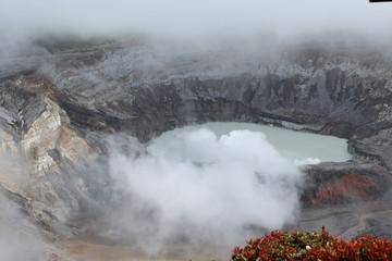 Vulkankrater Poas in Costa Rica