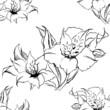 Pattern texture seamless monochrome flower composition