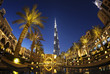 Evening view of downtown Dubai with Burj Khalifa in background - 81371174