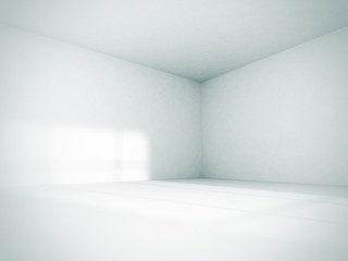 Empty Room Interior White Background