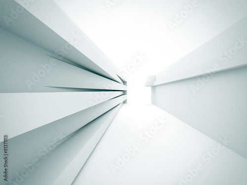 Abstract White Architecture Construction Background