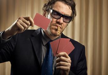 Portrait of gambler