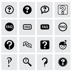 Vector faq icon set