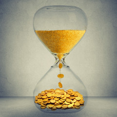 Time is money financial opportunity concept
