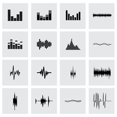 Vector music soundwave icon set