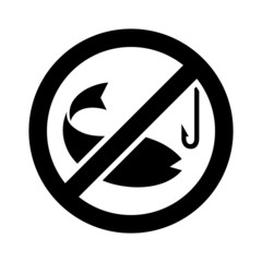 No fishing vector and icon, EPS10