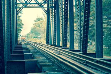 Vintage of railway bridge
