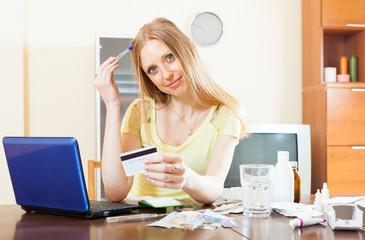 woman buying medication online