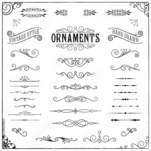 Vintage Ornaments poster