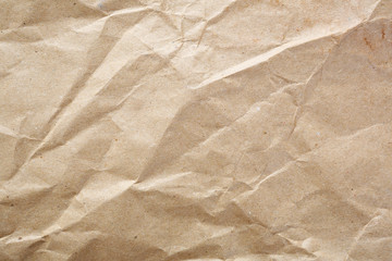 Crumpled kraft the paper