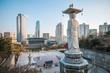 Leinwanddruck Bild -  Bongeunsa temple, Seoul, Korea