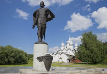 Александр Невский и церковь Бориса и Глеба. Великий Новгород