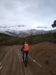bisiklet ile kış gezisi