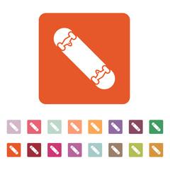 The skateboard icon. Skateboarding symbol. Flat